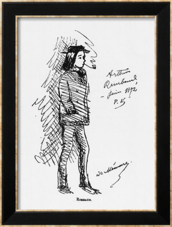 Arthur Rimbaud (1854-91) June 1872 Framed Art Print