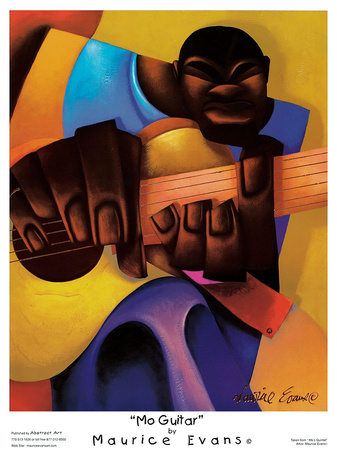 Mo Guitar Posters by Maurice Evans
