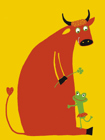 Love Between a Beef and a Frog Reproduction d'art