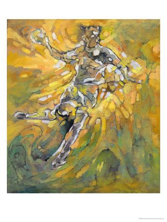 Handball Giclee Print by Hu Chang