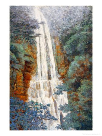 Waterfall at Wu-Fong in Summer Giclée-Druck