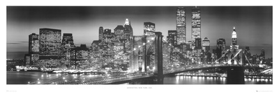Manhattan Skyline Door Poster
