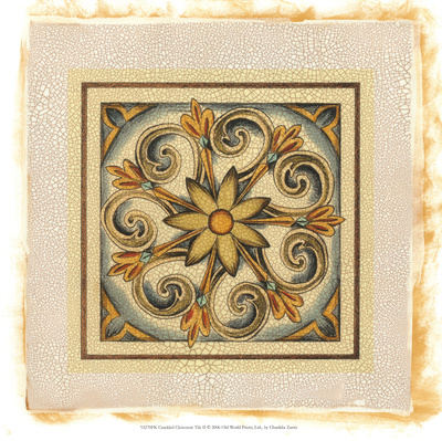 Crackled Cloisonne Tile II reproduction procédé giclée