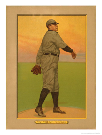 Cy Young, 1911 (T3) Turkey Red Cabinets Trading Card Konsttryck