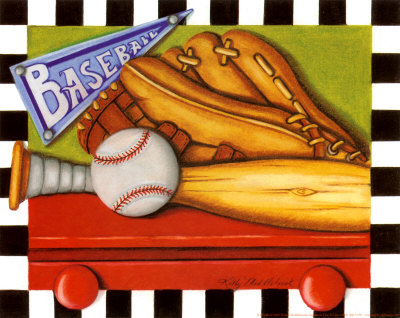 Baseball Reproduction d'art
