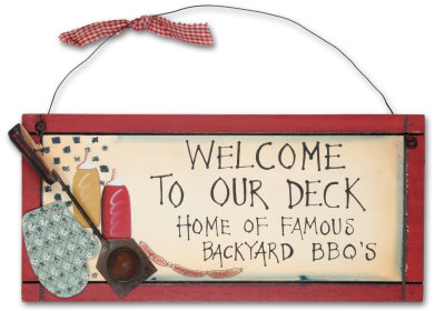 Welcome To Our Deck Wood Sign