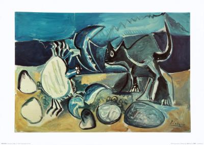 Cat and Crab on the Beach, 1965 Kunstdrucke von Pablo Picasso