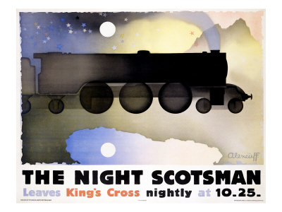 The Night Scotsman Giclee Print by Alexander Alexeieff