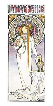 Mucha Nouveau La Trappistine Poster Lámina giclée