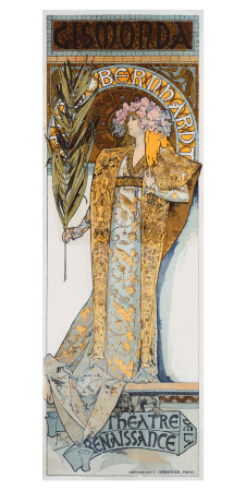 Mucha Nouveau Bernhardt Gismonda Giclee Print by Alphonse Mucha