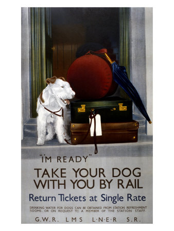 Take Your Dog with You by Rail,1923-1947 Giclee Print