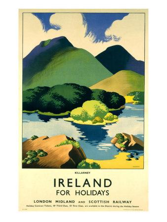Ireland for Holidays, Killarney Giclee Print by Clodagh Sparrow