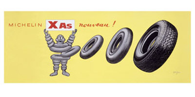 Michelin XAS Nouveau Giclee Print by Raymond Savignac