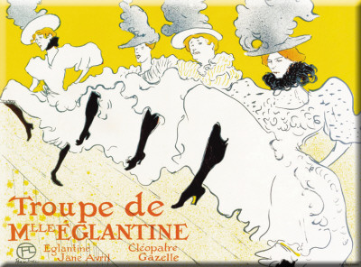 Troupe De Mlle'Eglantine Tin Sign