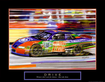Drive: Race Car Art Print
