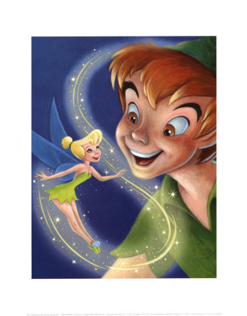 Tinker Bell and Peter Pan: A Touch of Magic Reproduction d'art