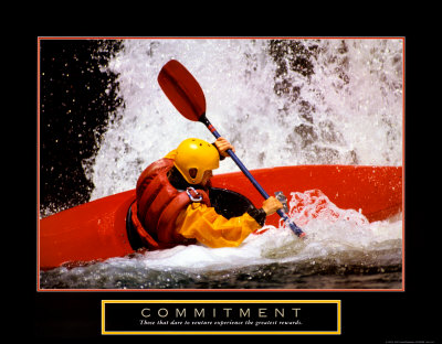 Commitment: Kayak Art Print