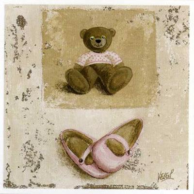 Nounours Rose et Chaussures Prints by Véronique Didier-Laurent
