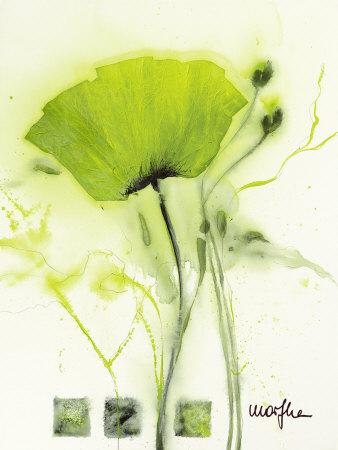 Coquelicot Vert I Kunsttryk