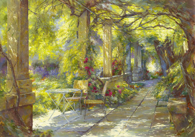 Promenade Provencale Art by Johan Messely