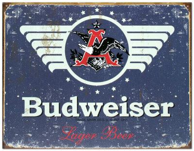 Budweiser 1936 Tin Sign