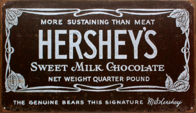 Hershey's Old Label Blikskilt