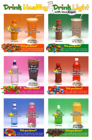 Drink Less Sugar Póster plastificado