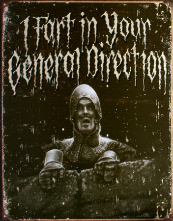 Holy Grail General Direction Blechschild