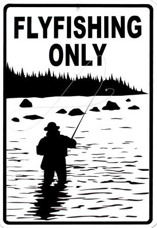 Flyfishing Only Tin Sign