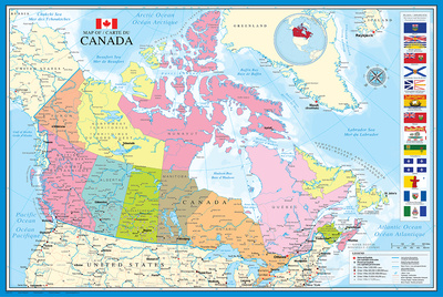 Map of Canada Prints