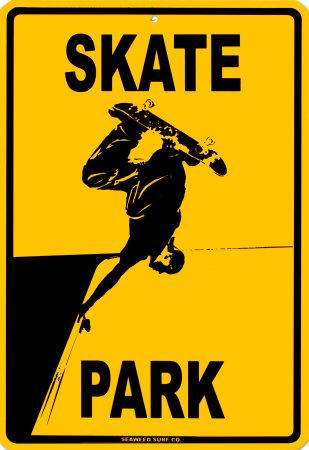 Skate Park Blikskilt