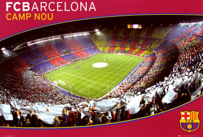 FCB- Barcelona Camp Nou Juliste