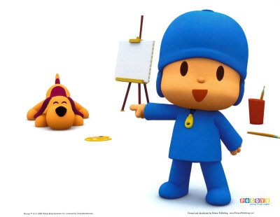 Pocoyo the Artist Art Print