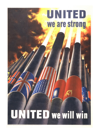 United We are Strong, United We Can Win Posters by Henry Koerner