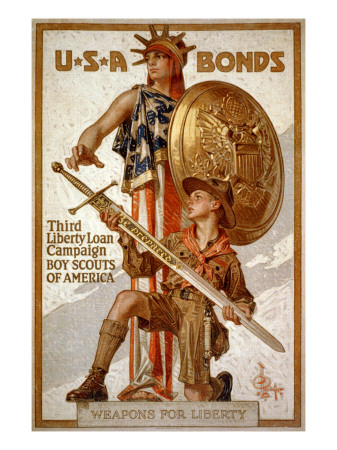 U*S*A Bonds, Third Liberty Loan Campaign, Boy Scouts of America Weapons for Liberty Art Print