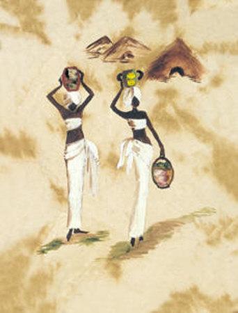 Kirdis con Cantaros Print by  Shango