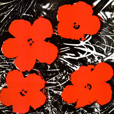 Flowers (Red), 1964 Taidevedos