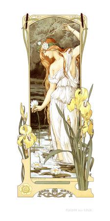 Fleurs des Eaux Giclee Print by Elisabeth Sonrel