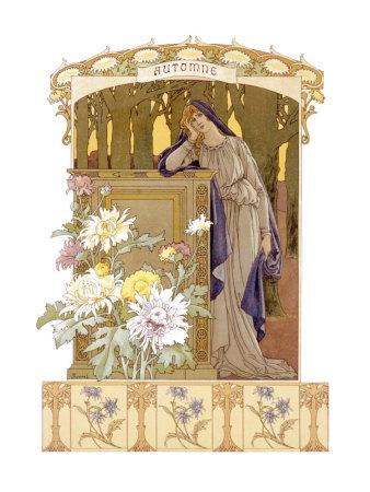 Four Seasons, Autumn Giclee Print by Elisabeth Sonrel