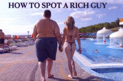 sexy woman with rich guy