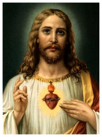 Sacred Heart of Jesus Print by  Zabateri