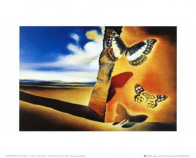 Landscape with Butterflies Prints by Salvador Dalí