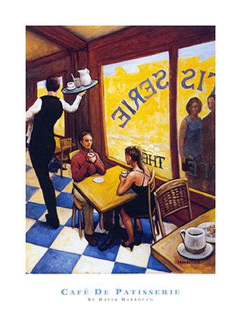 Cafe De Patisserie Prints by David Marrocco