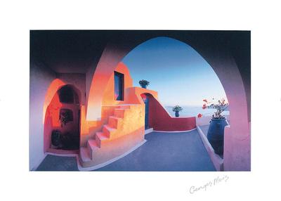 Sunlit Steps Prints by Georges Meis