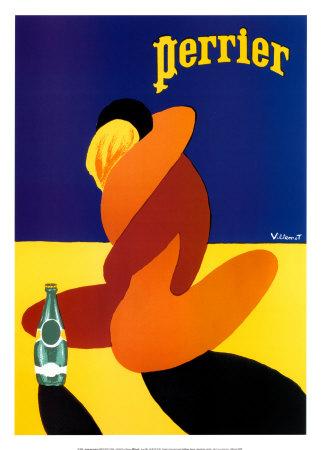 Perrier Prints by Bernard Villemot