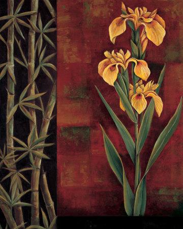 Yellow Iris Poster by Jill Deveraux