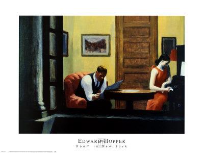 Room in New York Art by Edward Hopper