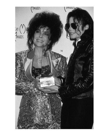 Elizabeth Taylor and Michael Jackson Poster