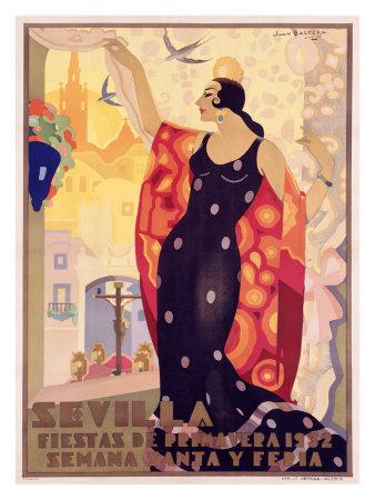 Sevilla, Fiestas Giclee Print by Juan Balcera de Fuentes