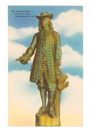 Willam Penn Statue, City Hall, Philadelphia, Pennsylvania Posters at